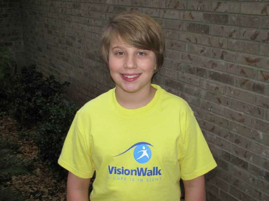 San Antonio firefighter Todd Dunn is taking part in Saturday's VisionWalk, a fundraiser for the Foundation Fighting Blindness. His son, Jameson (pictured), 11, suffers from Stargardt disease, a form of inherited juvenile macular degeneration. Photo: Courtesy Photo