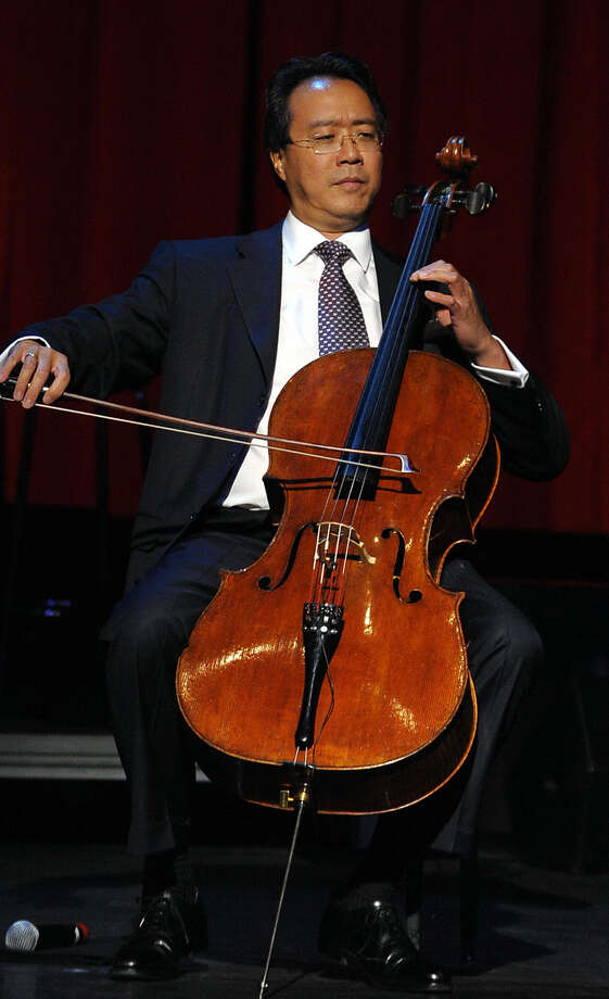 Cellist Yo-Yo Ma brings a group of friends to the Majestic Theatre for a performance by the Silk Road Ensemble Thursday night. JEWEL SAMADA / GETTY IMAGES / 2009 AFP