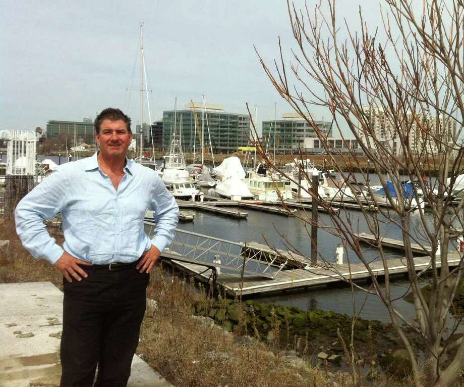 """Dominick Caiati is spearheading a project to create a series of """"pop-up"""" restaurants that will operate on the west side of Stamford Harbor./PHOTO BY RICHARD LEE Photo: Richard Lee, Contributed Photo / Stamford Advocate Staff"""