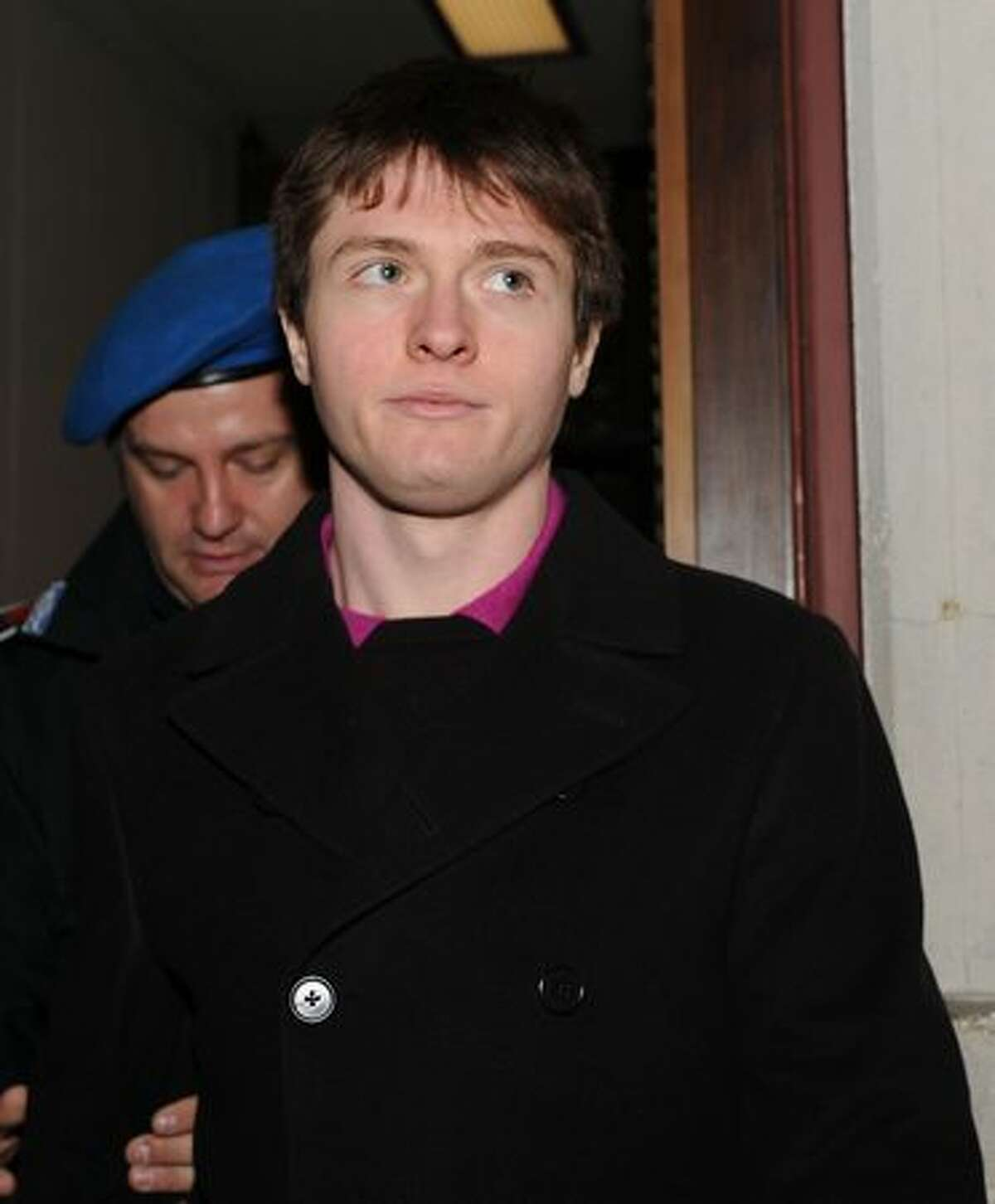 Raffaele Sollecito attends the appeal hearing of Amanda Knox.
