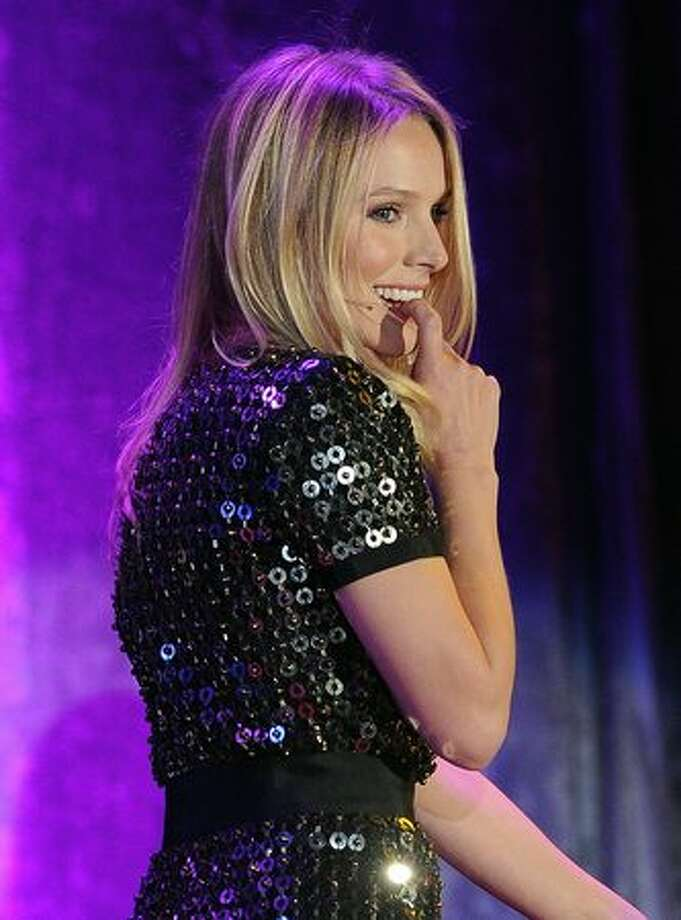 "Actress Kristen Bell performs onstage during the 19th annual ""A Night At Sardi's"" fundraiser and awards dinner benefitting the Alzheimer's Association at the Beverly Hilton Hotel on Thursday in Beverly Hills, California. Photo: Getty Images / Getty Images"