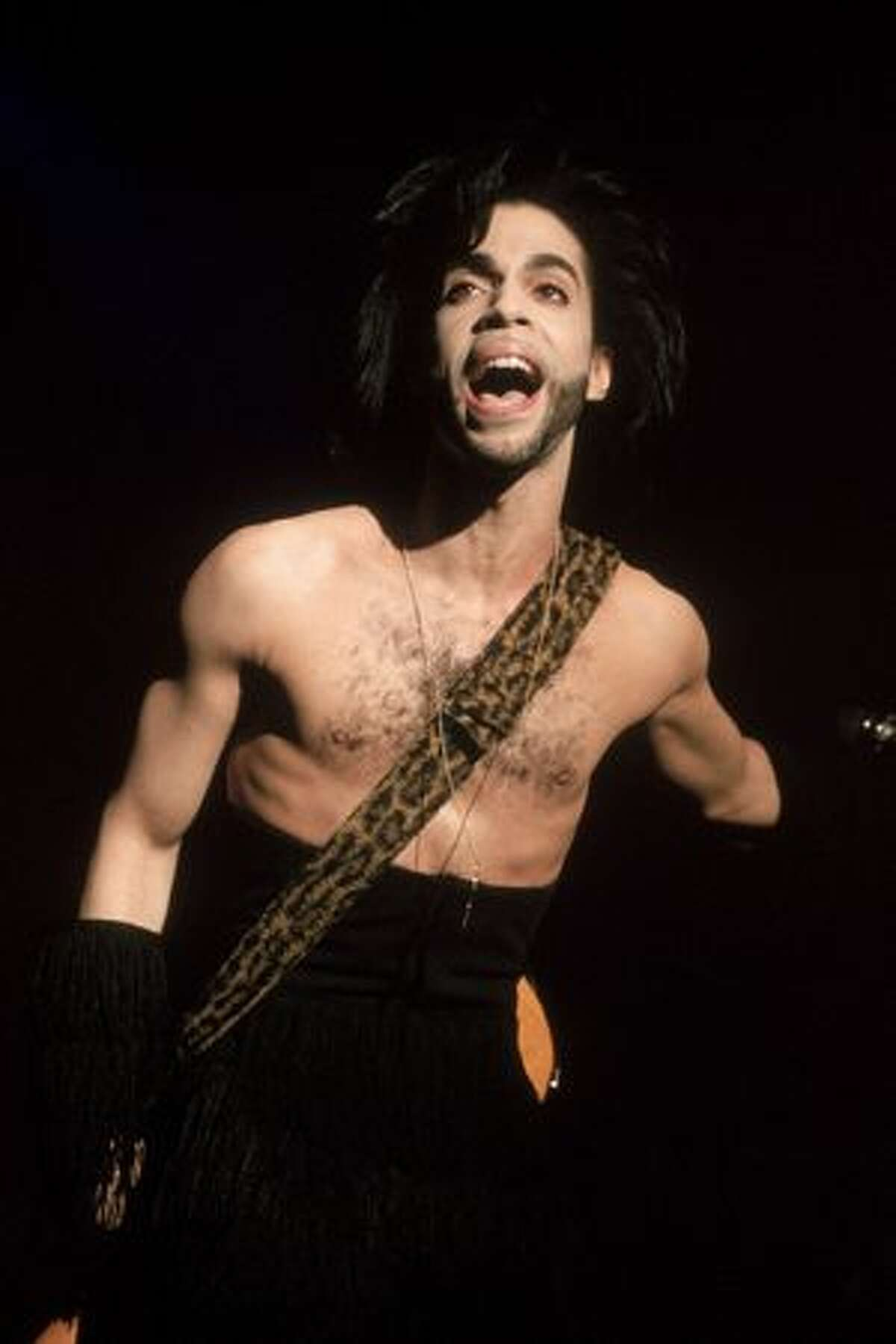 American singer and songwriter Prince performs in concert, Minneapolis, Minn., April 30, 1990.