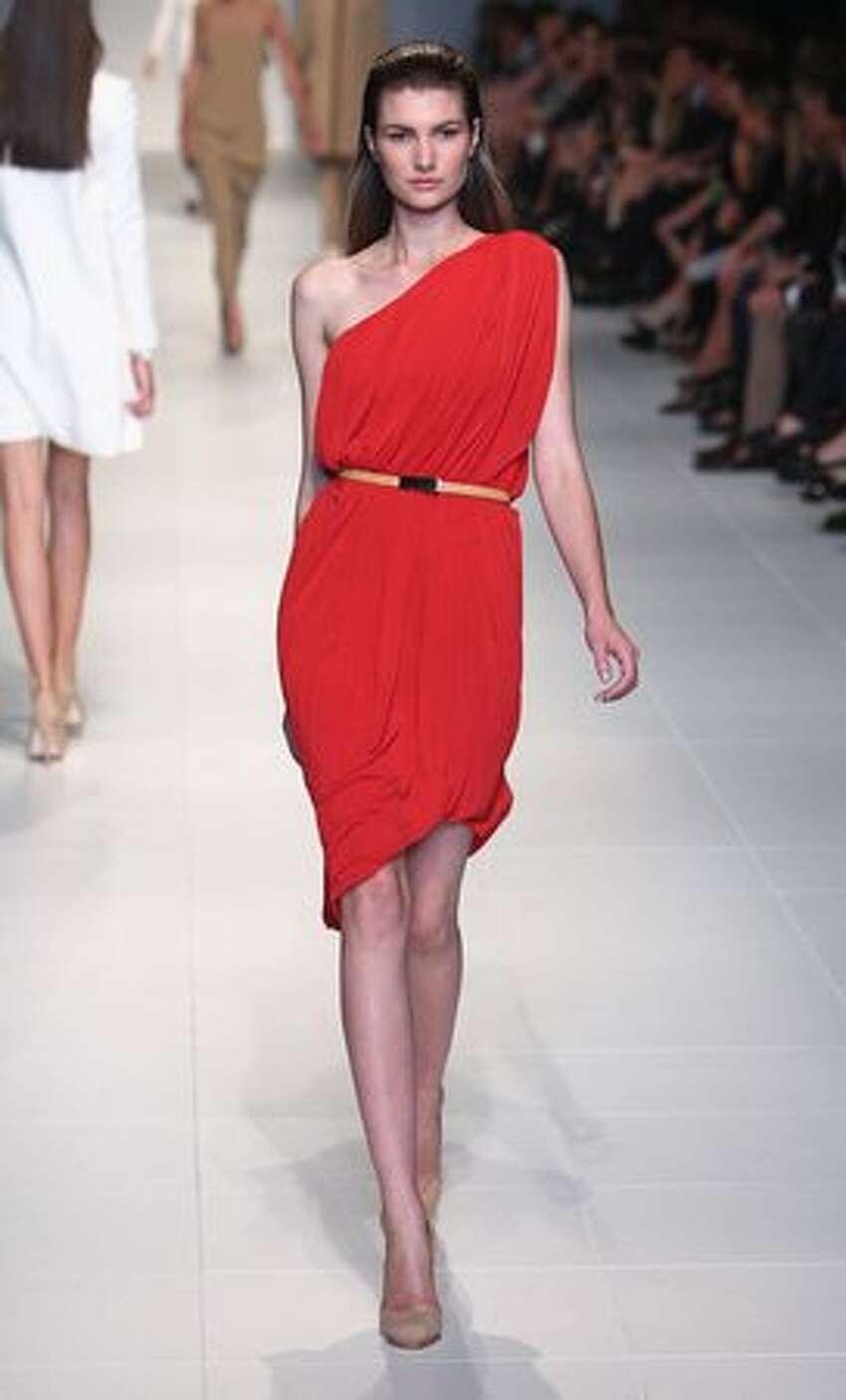 A model showcases designs by Lisa Ho.