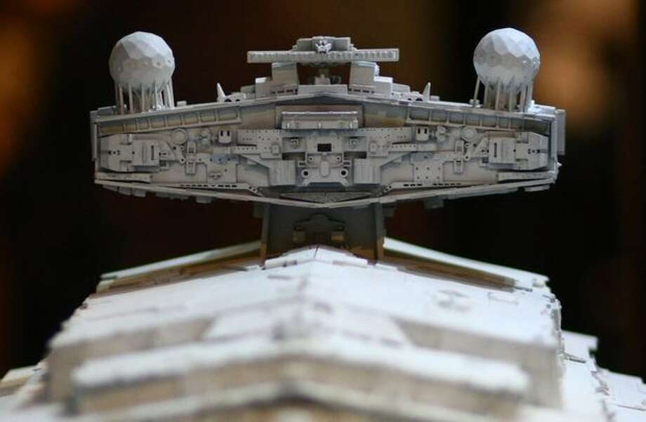 """An Imperial Star Destroyer model is shown during a preview of the exhibit """"Star Wars: Where Science Meets Imagination."""" Photo: Joshua Trujillo, Seattlepi.com / seattlepi.com"""