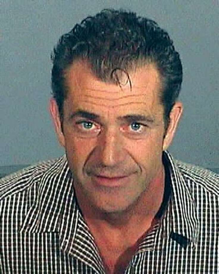 Here's Mel again, this time in a mug shot from the Los Angeles County Sheriff's Department taken on July 28, 2006. Gibson was arrested on suspicion of drunk driving. Photo: Getty Images / Getty Images
