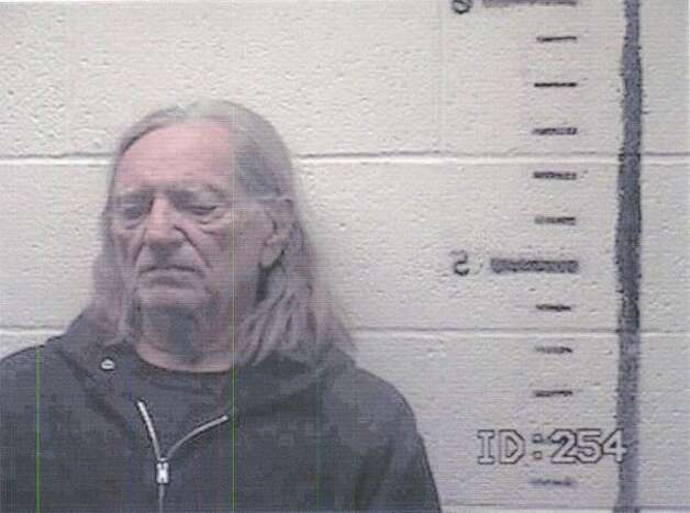 Musician Willie Nelson is seen in a booking photo on November 26, 2010 in Sierra Blanca, Texas. Nelson was arrested for possession of marijuana and released on $2,500 bond. Photo: Getty Images / Getty Images