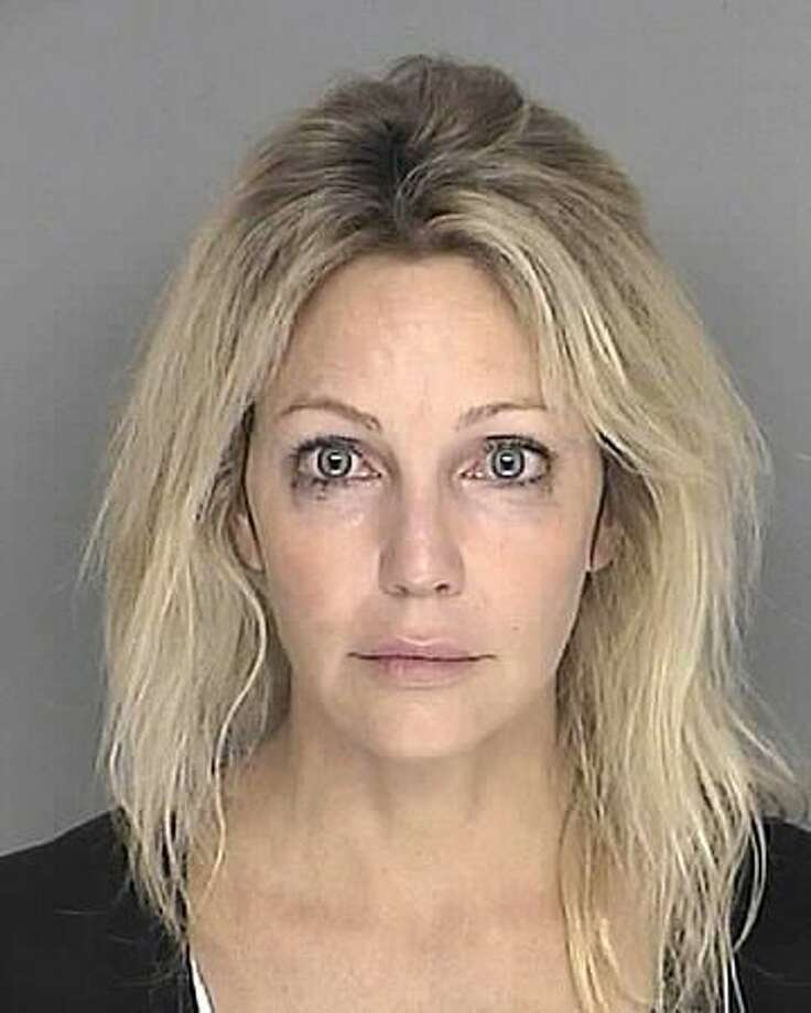 Heather Locklear poses for a mugshot for the Santa Barbara County Sheriff's Department on September 28, 2008. Locklear was arrested on suspicion of driving under the influence of a controlled substance in the Santa Barbara area, authorities said. Photo: Getty Images / Getty Images