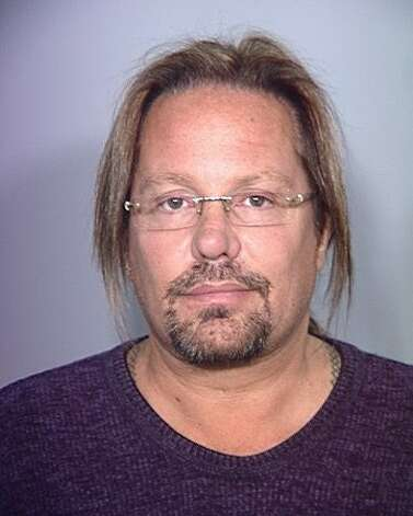Musician Vince Neil, of Motley Crue, is seen in a booking photo at the Clark County Detention Center on February 15, 2011 in Las Vegas, Nevada. Neil was beginning a 15-day jail sentence for a DUI conviction. Photo: Getty Images / Getty Images