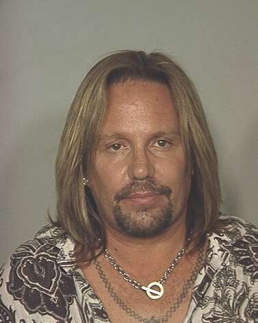 Motley Crue singer Vince Neil is pictured in this booking photo by Las Vegas police on June 27, 2010. Neil was arrested and charged with driving under the influence. Photo: Getty Images / Getty Images