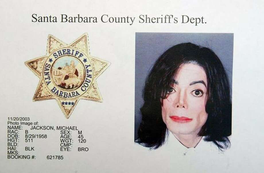 Michael Jackson is pictured in a mug shot from the Santa Barbara County Sheriff's Office. Jackson was booked on multiple counts for allegedly molesting a child on November 20, 2003. Photo: Getty Images / Getty Images