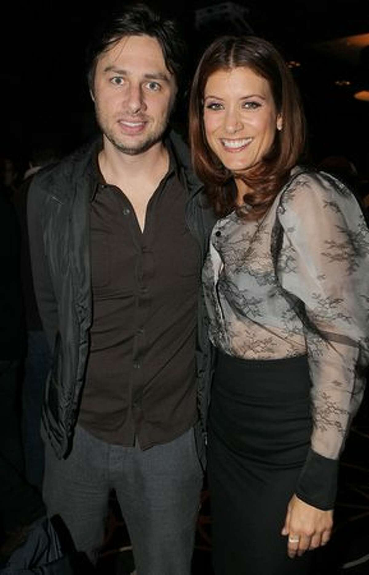 Actors Zach Braff and Kate Walsh attend the 2011 Tribeca Film Festival Kick-Off party at the W Hollywood in Hollywood, California.