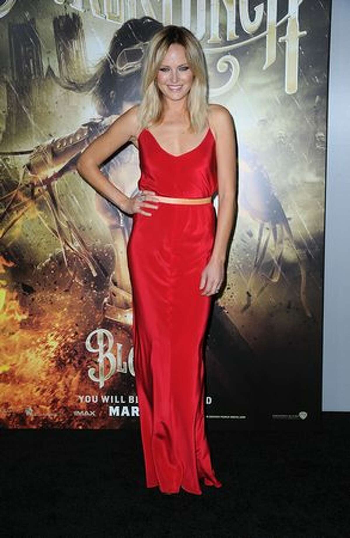 """Actress Malin Akerman arrives at the premiere of Warner Bros Pictures' """"Sucker Punch"""" at Grauman's Chinese Theatre on March 23, 2011 in Hollywood, California."""
