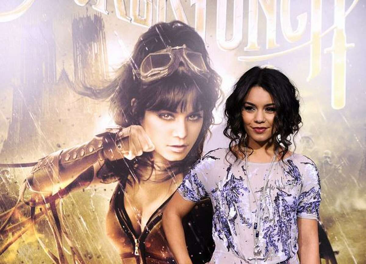 """Actress Vanessa Hudgens arrives at the premiere of Warner Bros Pictures' """"Sucker Punch"""" at Grauman's Chinese Theatre on March 23, 2011 in Hollywood, California."""
