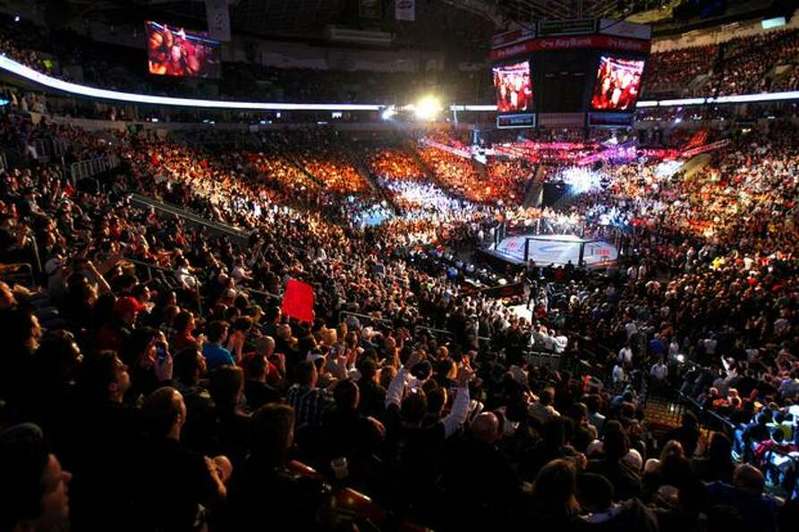 KeyArena is packed during UFC Fight Night Live.