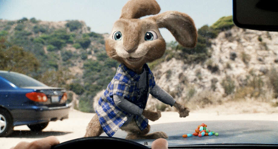 "E.B., the teenage son of the Easter Bunny, voiced by Russell Brand, wants to become a rock star in ""Hop."" UNIVERSAL PICTURES / Copyright: © 2011 Universal Studios. ALL RIGHTS RESERVED."