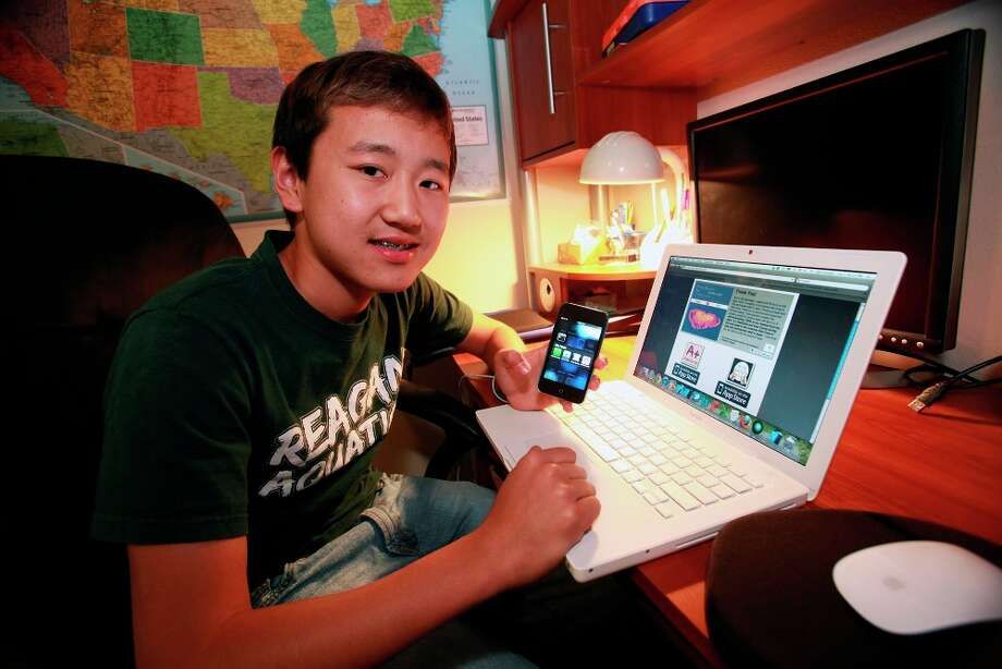 Canzhi Ye, a 14 year old student at Reagan High School developed four iPhone apps and is donating some of the proceeds to American Red Cross for help in the disaster in Japan. Photo: TOM REEL/SAN ANTONIO EXPRESS-NEWS