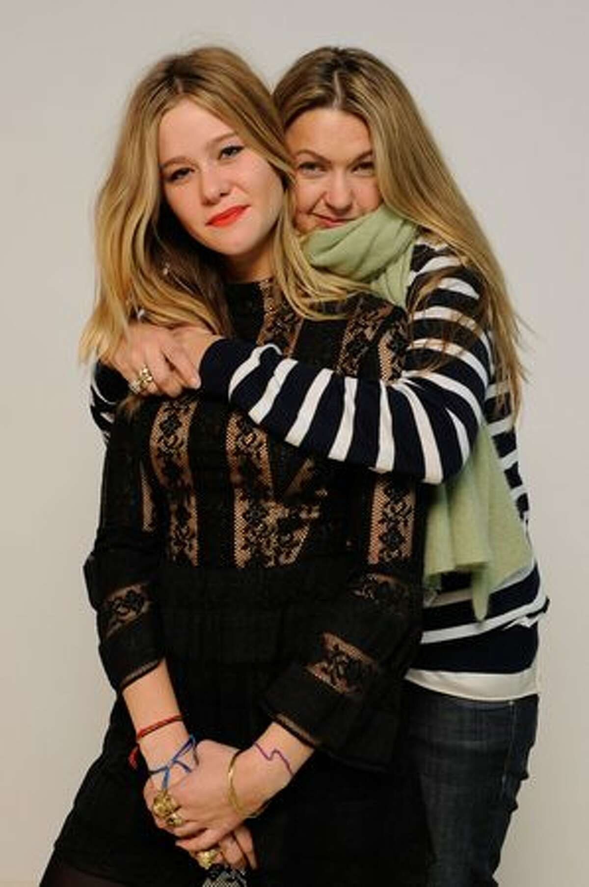 Actress Jazzy De Lisser and director Erica Dunton pose for a portrait during the 2011 Sundance Film Festival at The Samsung Galaxy Tab Lift on January 22, 2011 in Park City, Utah.