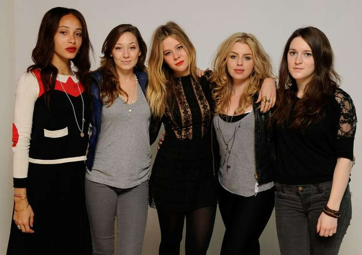 Actresses Adwoa Aboah, Audrey Speicher, Jazzy De Lisser, Chelsea Logan and Jami Eaton pose for a portrait during the 2011 Sundance Film Festival at The Samsung Galaxy Tab Lift on January 22, 2011 in Park City, Utah.