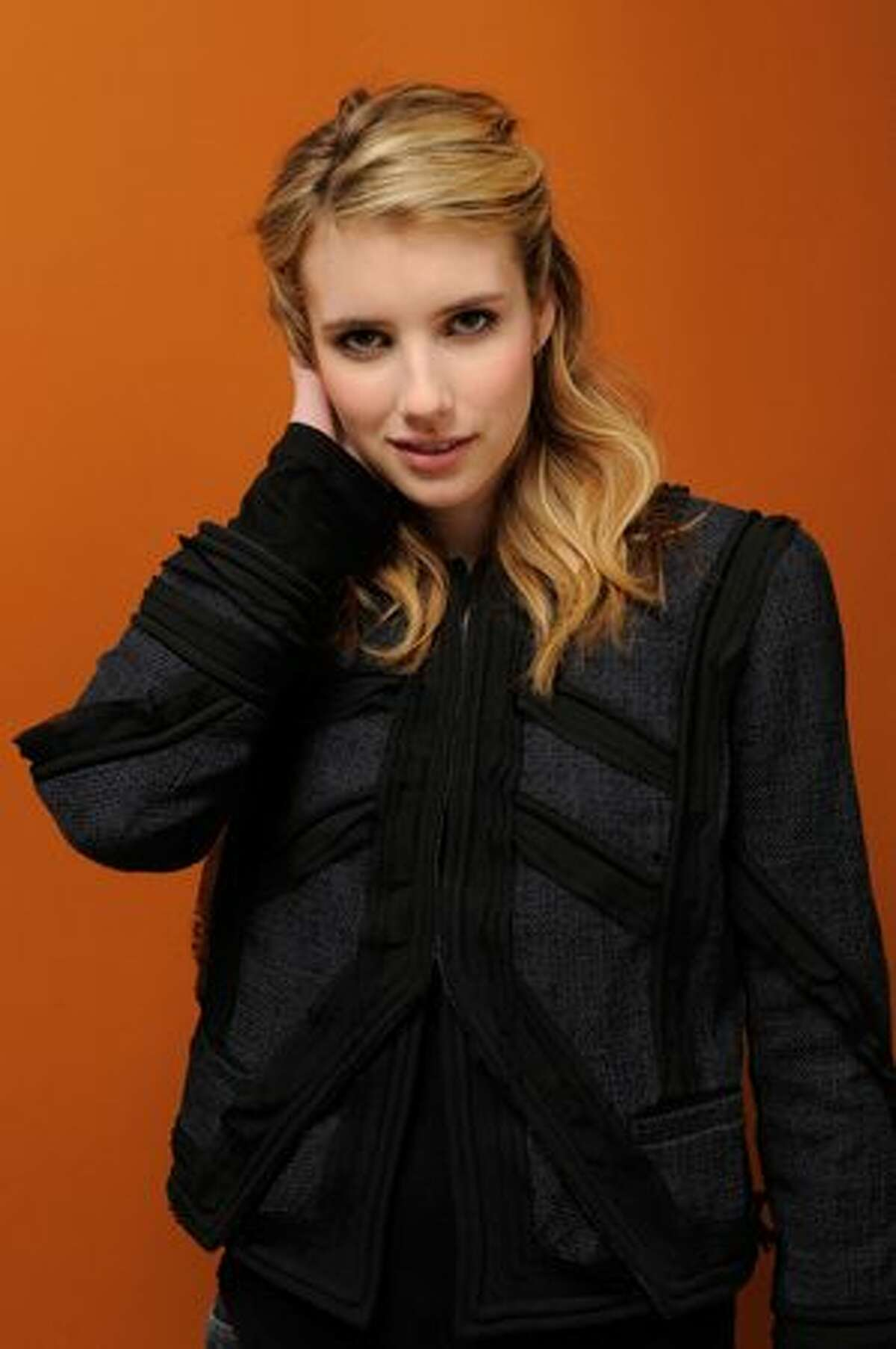 Actress Emma Roberts poses for a portrait during the 2011 Sundance Film Festival at The Samsung Galaxy Tab Lift in Park City, Utah.
