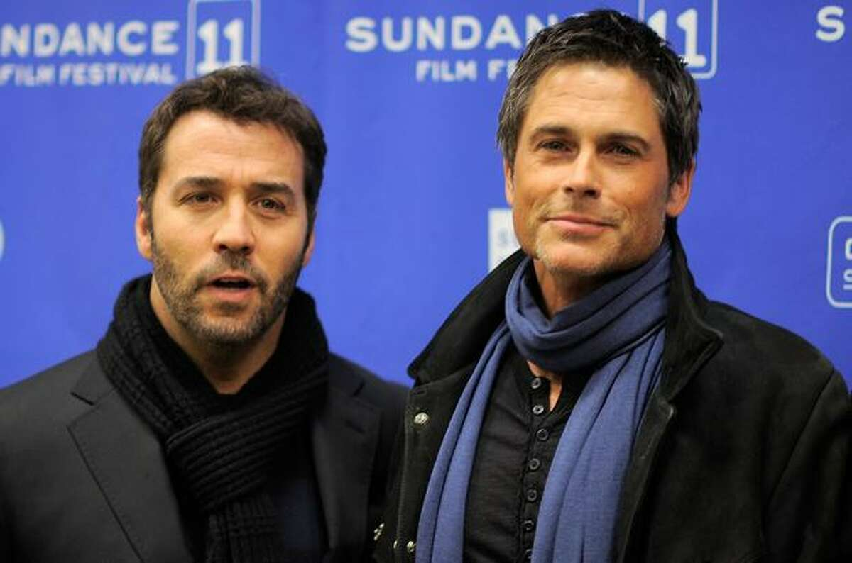 Actors Jeremy Piven and Rob Lowe attend the
