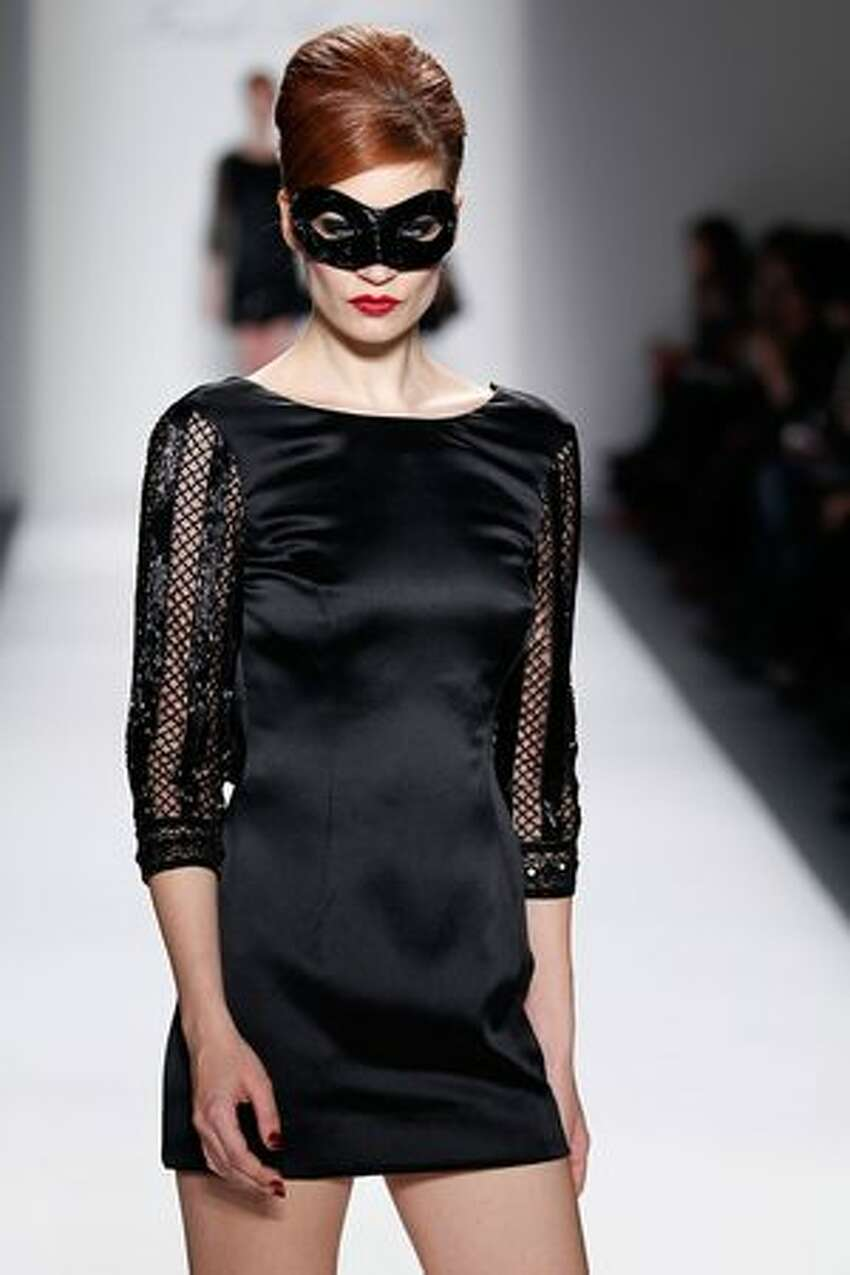 A model walks the runway at the Farah Angsana Fall 2011 fashion show during Mercedes-Benz Fashion Week at The Studio at Lincoln Center in New York City.