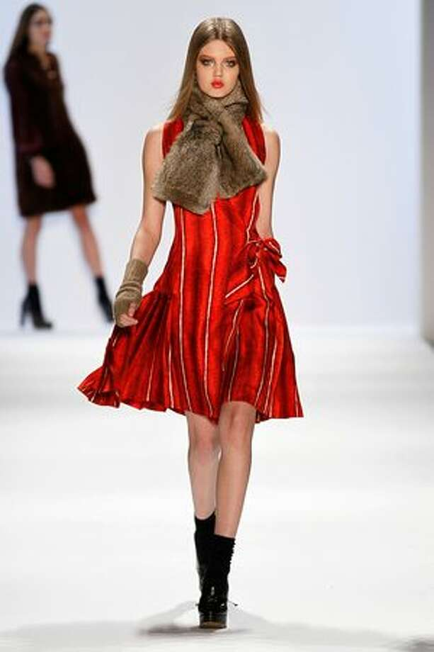 A model walks the runway at the Jill Stuart Fall 2011 fashion show during Mercedes-Benz Fashion Week at The Stage at Lincoln Center in New York on Saturday, Feb. 12, 2011. Photo: Getty Images / Getty Images