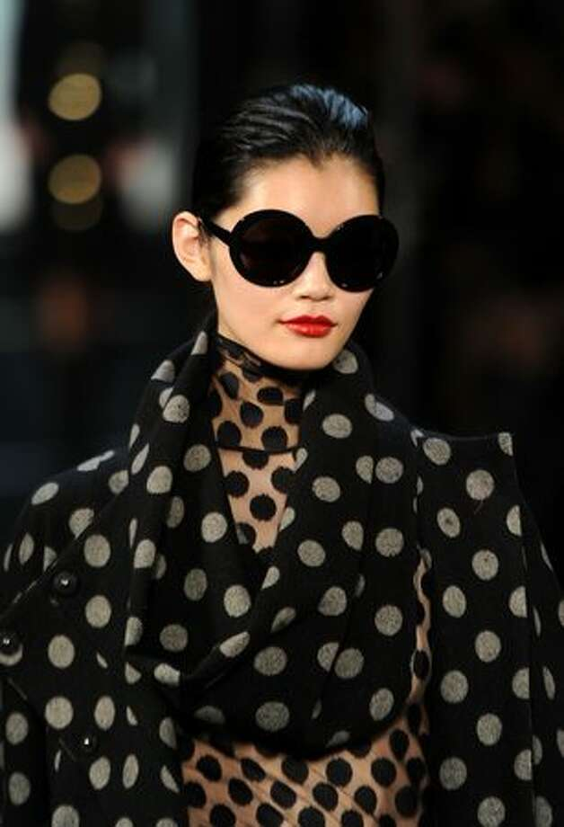A model walks the runway at the Diane von Furstenberg Fall 2011 fashion show during Mercedes-Benz Fashion Week at The Theatre in New York City. Photo: Getty Images / Getty Images