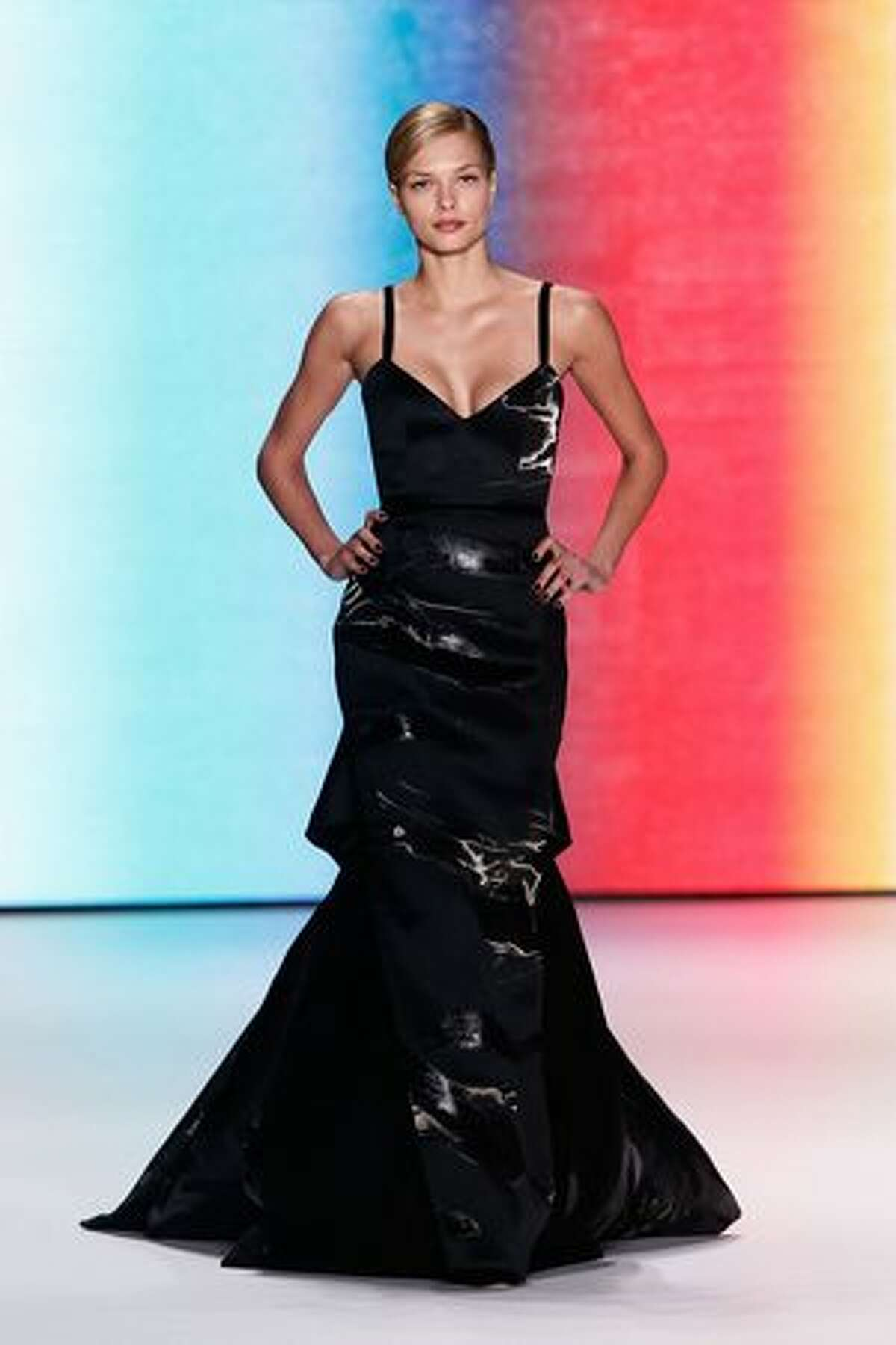 A model walks the runway at the Carolina Herrera Fall 2011 fashion show during Mercedes-Benz Fashion Week at The Theatre at Lincoln Center in New York City.