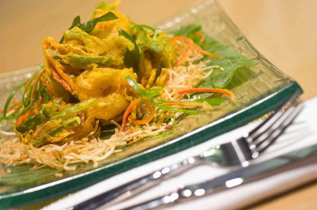 Crispy pepper shrimp at Tawa, an Indian restaurant on Summer Street in Stamford, Conn.