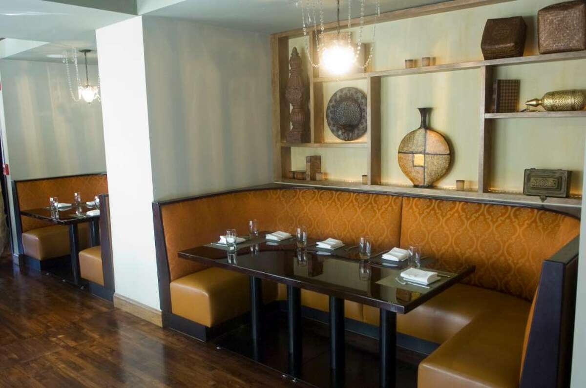 The interior of Tawa, an Indian restaurant on Summer Street on Summer Street in Stamford, Conn.