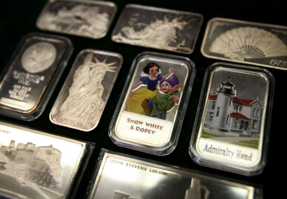 Silver bars in one troy ounce and larger sizes are also popular among investors. Photo: Brian A. Pounds / Connecticut Post