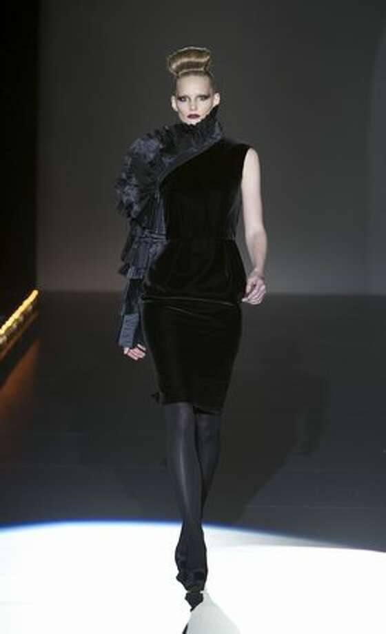 A model walks the runway during the Hannibal Laguna fashion show as part of Cibeles Fashion Week fall/winter 2011 in Madrid, Spain on Saturday, Feb. 19, 2011. Photo: Getty Images / Getty Images