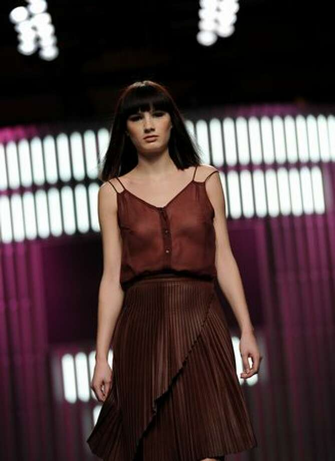 A model walks the runway in the El Colmillo de Morsa - Cati Serra fashion show during the Cibeles Madrid Fashion Week Autumn/Winter 2011 at the Ifema on February 23, 2011 in Madrid, Spain. Photo: Getty Images / Getty Images