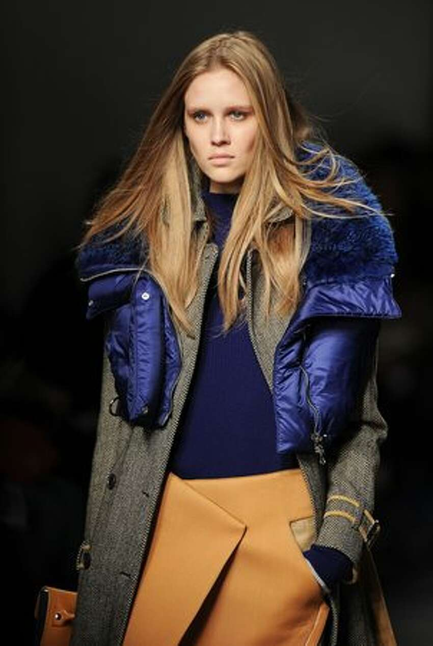 A model wears a creation during the Aquascutum Autumn/Winter 2011 collection show on the fifth day of London Fashion Week.