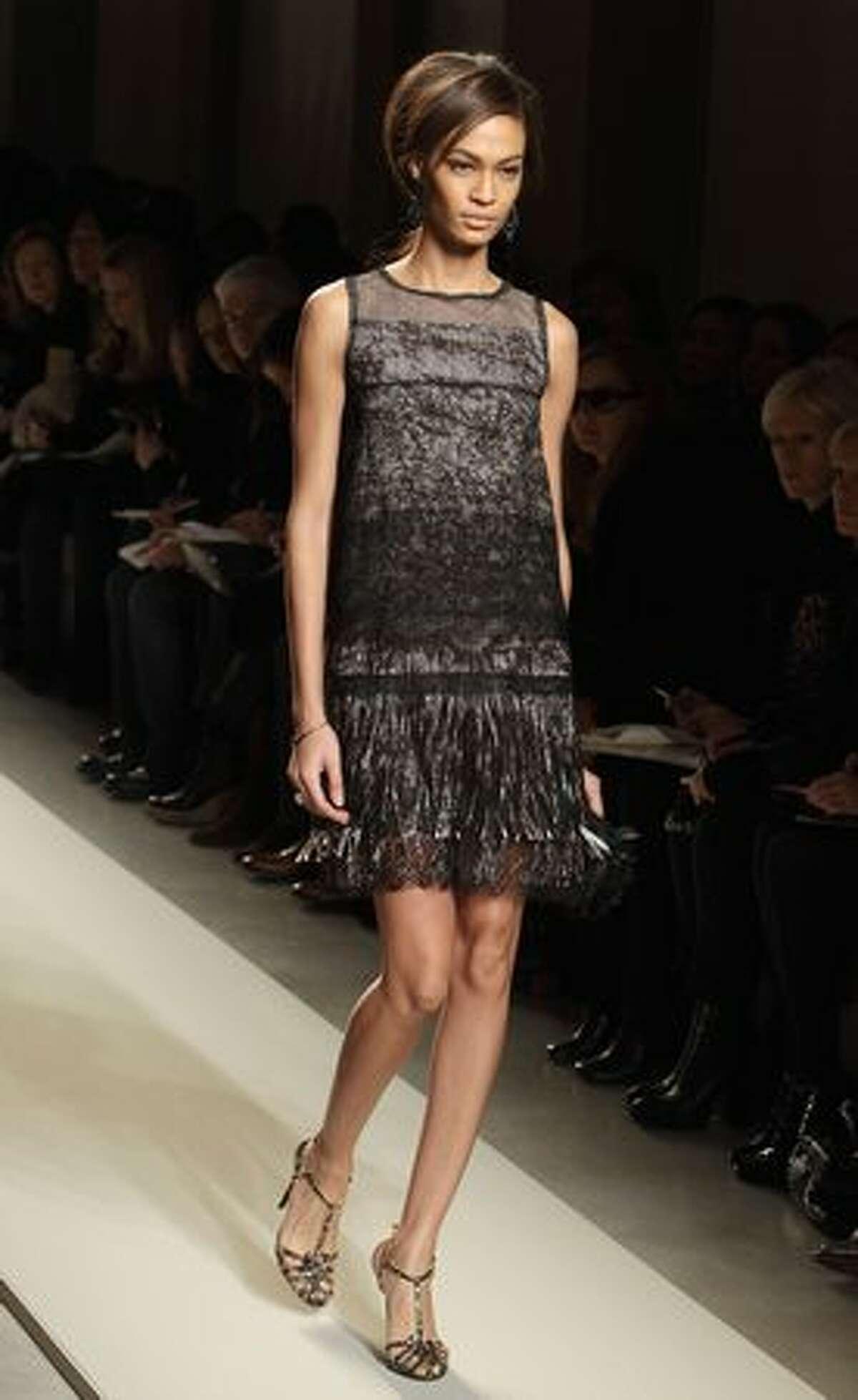 A model walks the runway during the Bottega Veneta show.