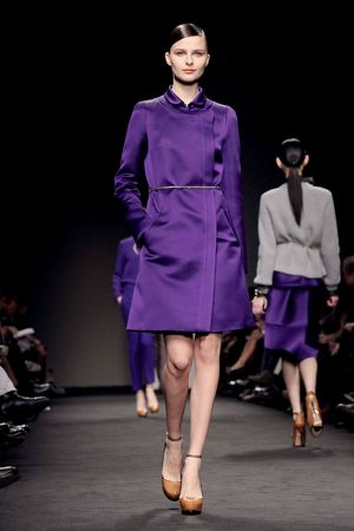 A model walks the runway during the Brioni fashion show as part of Milan Fashion Week autumn/winter 2011 in Milan, Italy on Sunday, Feb. 27, 2011.