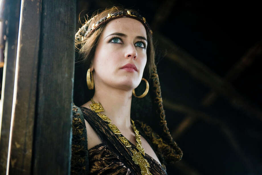 "Eva Green (above) plays Morgan, Arthur's sorceress half-sister, in the Satarz series, ""Camelot."" STARZ MEDIA / © 2010 KA PRODUCTIONS LIMITED / T5 Camelot Productions Inc.
