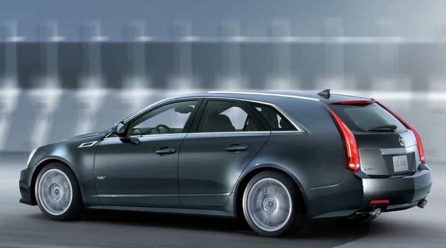 The 2011 Cadillac CTS-V Sport Wagon can accelerate from zero to 60 mph in just four seconds, GM says. It will be available in limited quantities and must be special ordered. Photo: General Motors Co., COURTESY OF GENERAL MOTORS CO.