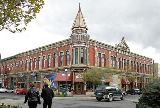 The Davidson Building, from 1890, is Ellensburg's only remaining downtown building with a tower. (Gilbert W. Arias / Seattle P-I)
