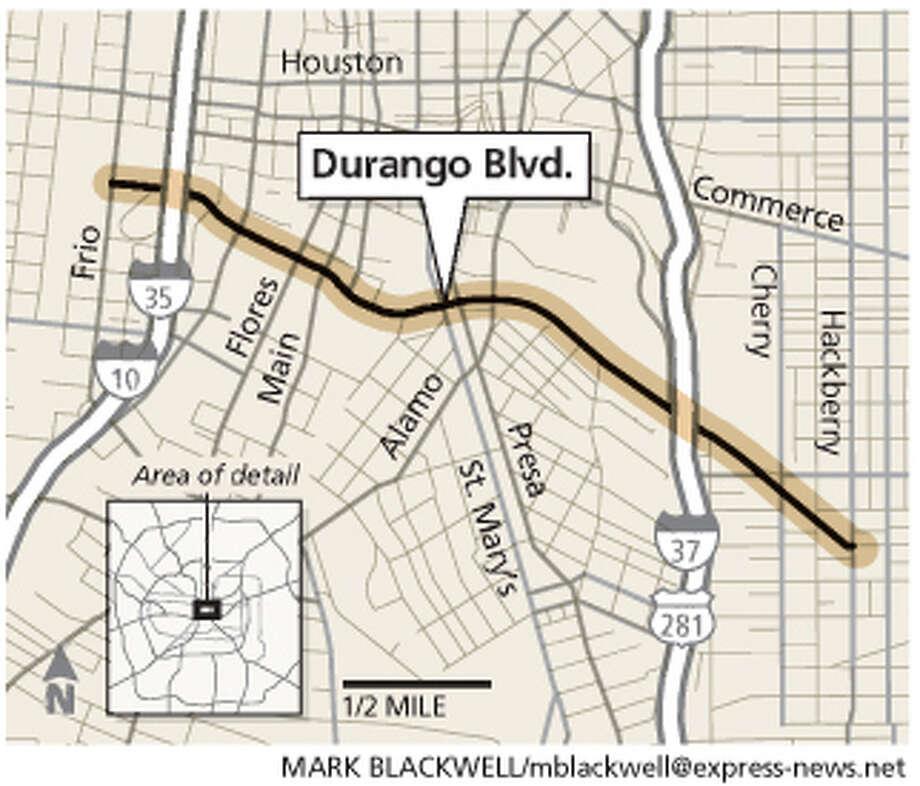 Durango Boulevard map