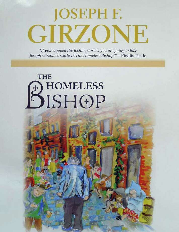 "Detail of the cover for retired priest and best-selling author Joseph Girzone's latest novel at his Altamont Wednesday March 23,2011.He has a new publisher, Orbis, and a new novel ""The Homeless Bishop"" coming out in May.( Michael P. Farrell/Times Union ) Photo: Michael P. Farrell / 00012504A"