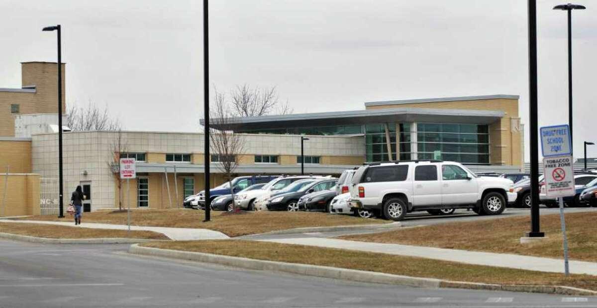 Exterior of Niskayuna High School Thursday afternoon March 31, 2011. (John Carl D'Annibale / Times Union)