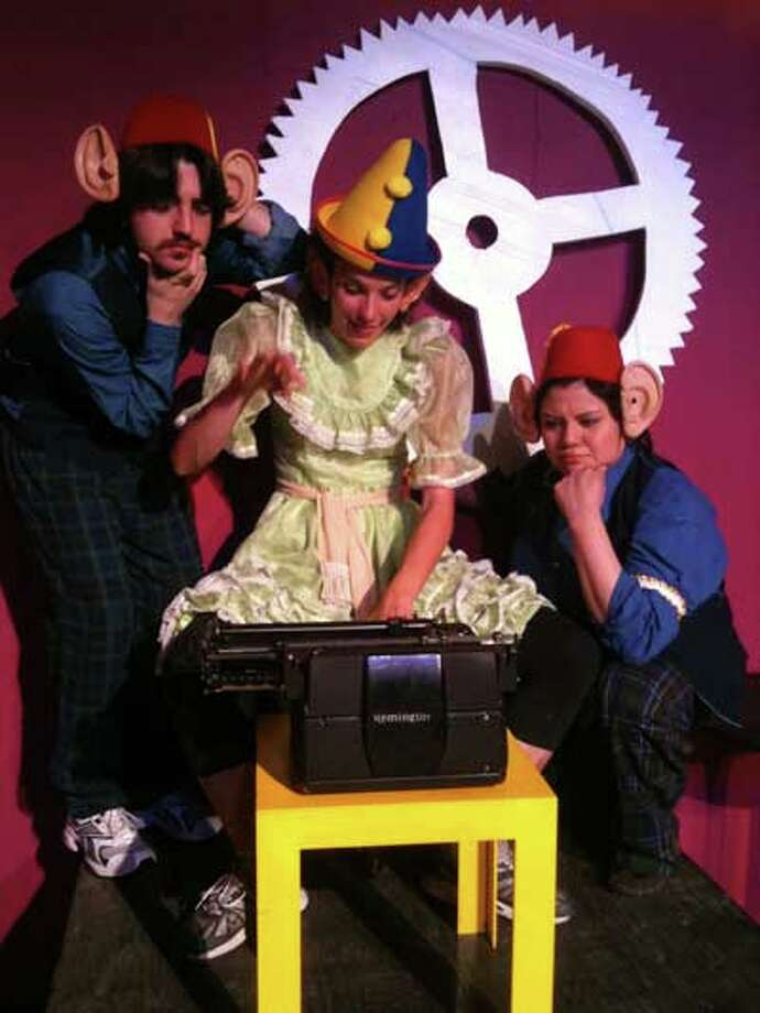 """Stephen Poel, Tara Hirschberger and Lucia Villanueva star in the Cameo Theatre's staging of """"All in the Timing."""" Courtesy of the Cameo Theatre."""
