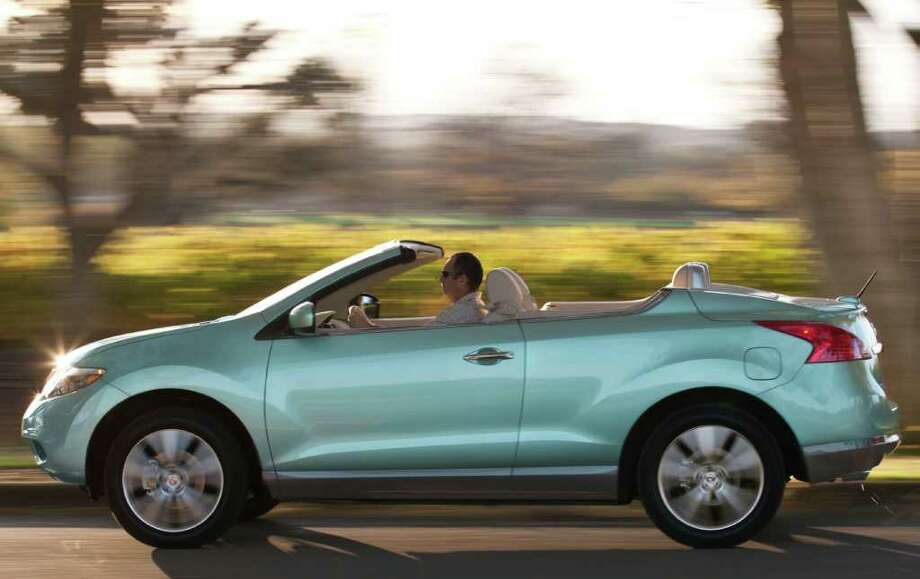 The Murano CrossCabriolet seats up to four people comfortably but has only two doors instead of the hard-top Murano's four. Photo: Nissan North America, COURTESY OF NISSAN NORTH AMERICA INC.
