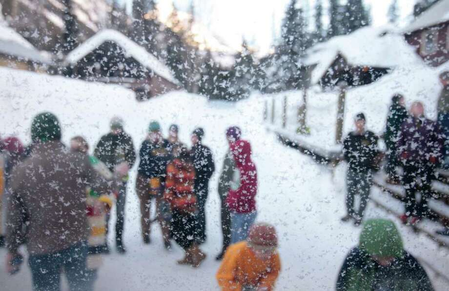 To me, this photo captures the feeling of the snowy paradise and the sense of community that embodies Holden Village.