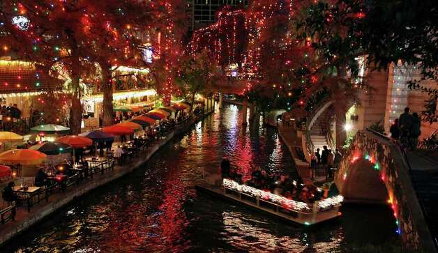 The 2010 River of Lights Holiday Festival from The San Antonio River Authority and CPS Energy won for best collaborative event. Photo: EDWARD A. ORNELAS, SAN ANTONIO EXPRESS-NEWS / eaornelas@express-news.net
