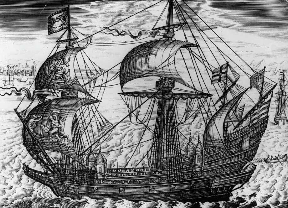 The Royal Navy has had five ships named Ark Royal. The first HMS Ark Royal, a galleon that took on the Spanish Armada, is shown in this picture, circa 1575.