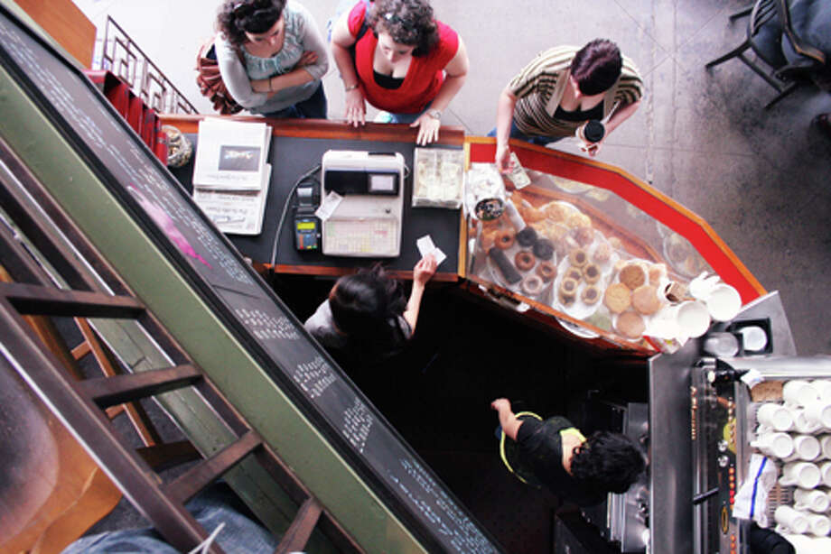 Bauhaus Books & Coffee is a great place to people watch or curl up with a book. (William Baldon / seattlepi.com)