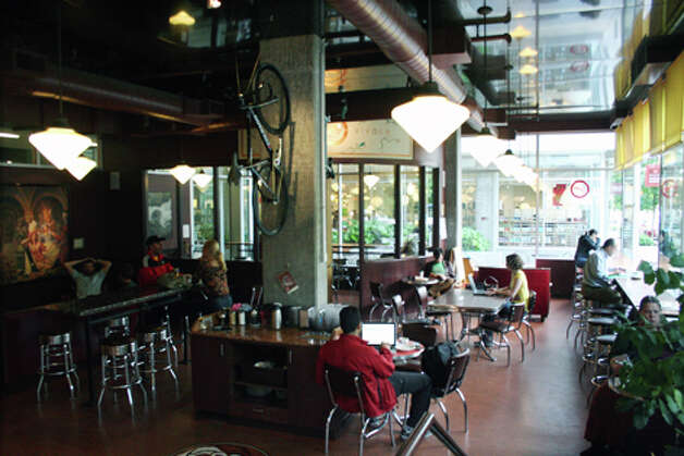 For fun with your coffee, stop by South Lake Union's Espresso Vivace. Expect a work of art in every cup. (William Baldon / seattlepi.com)