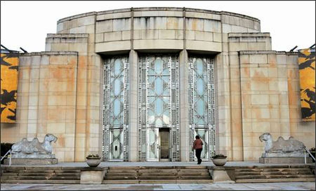 Before entering the Seattle Asian Art Museum in Volunteer Park, take a moment to enjoy the art-deco facade of the building, formerly the home of SAM. (Gilbert W. Arias / Seattle P-I)